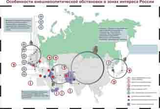 Особенности внешнеполитической обстановки   в зонах интереса России